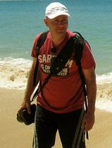 Koen Blanquart taking pictures in New Zealand