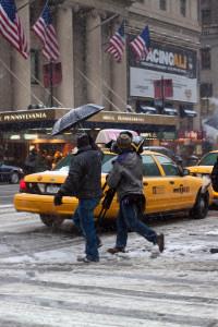 Snowy day - NYC, 7th Avenue near Penn Station