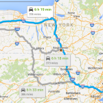 Routes between New York City and Buffalo