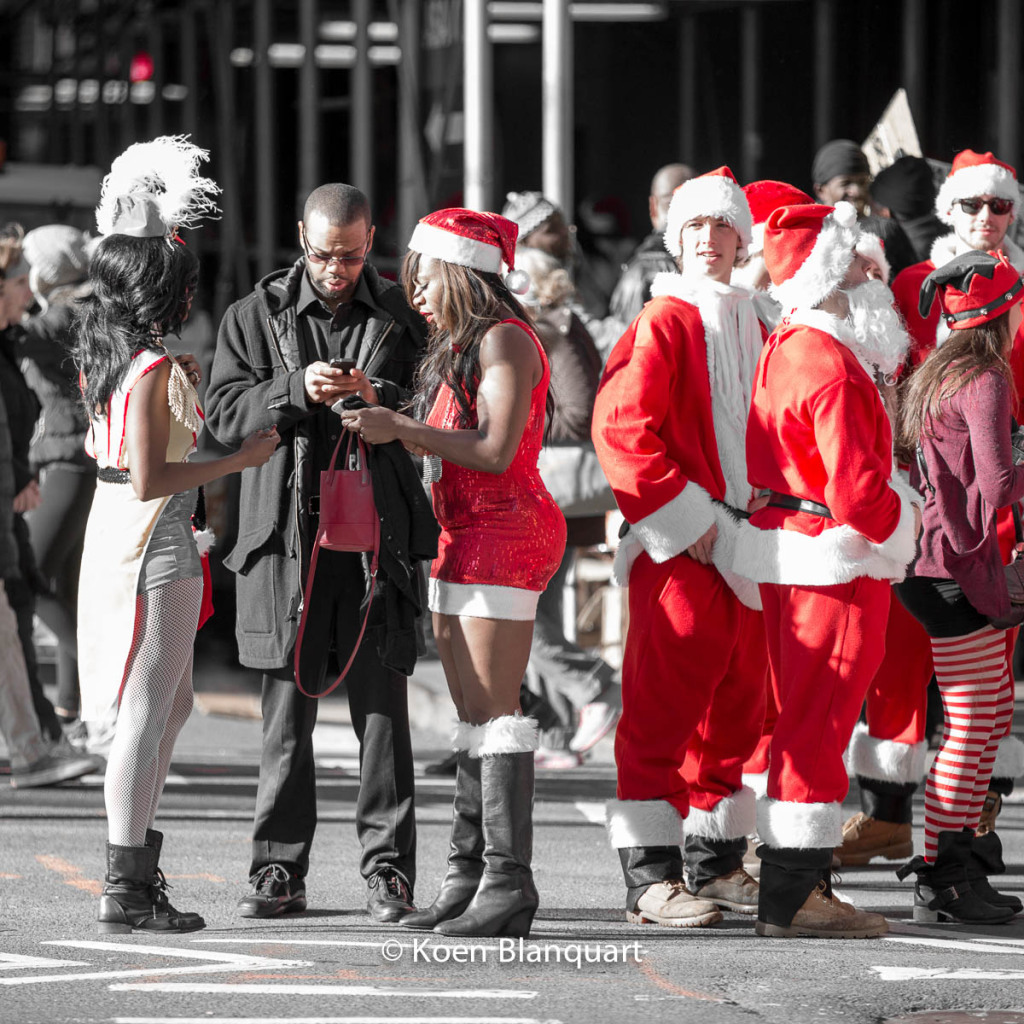 Some Santas are welcomed easier by the New Yorkers than others