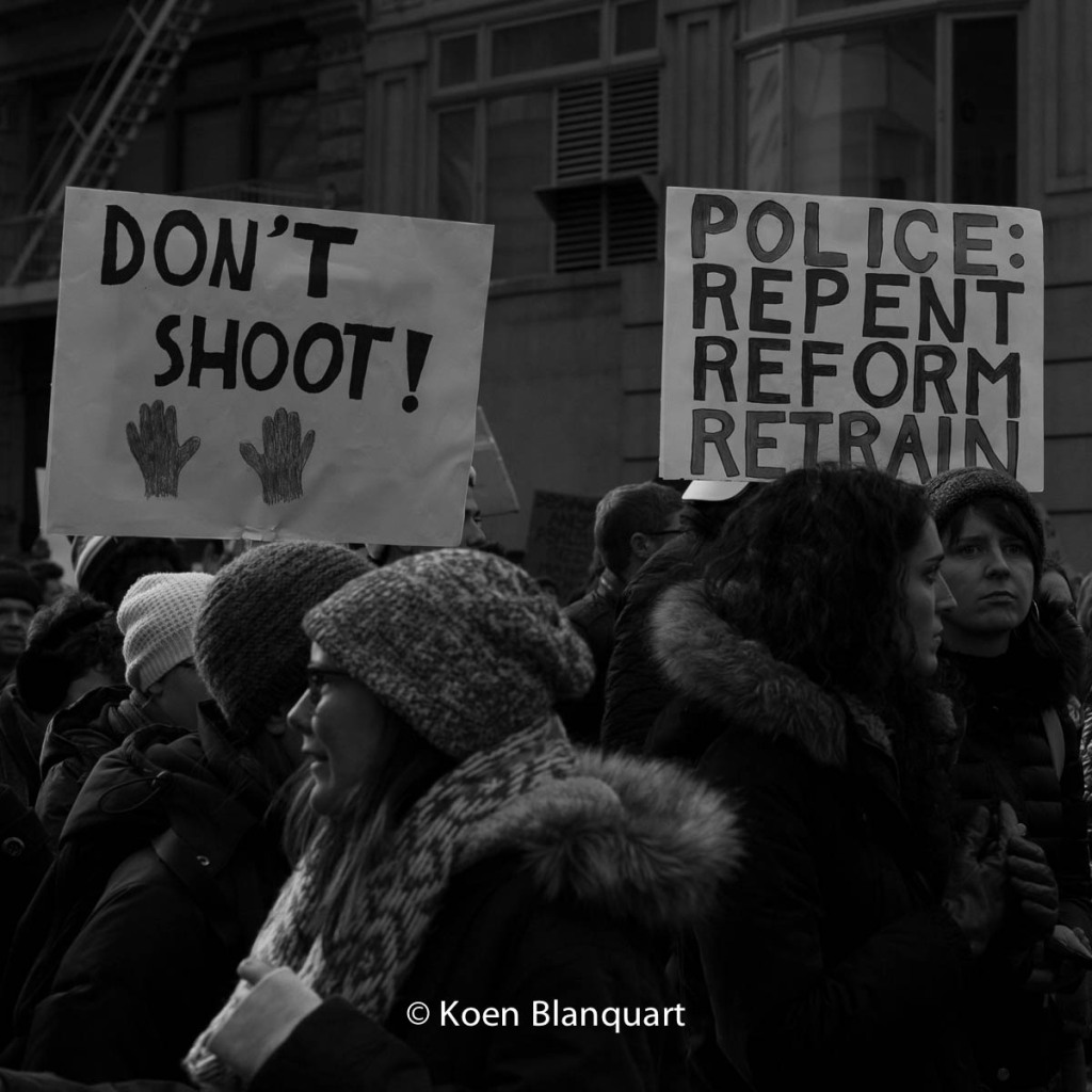 Over 25000 marched in the Millions March NYC, demanding a halt to police brutality (Image: Koen Blanquart)