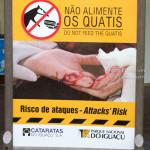 Quatis warning sign